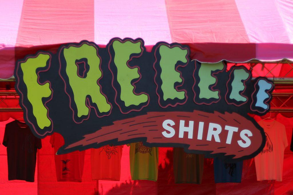 Comic Con Freeeee Shirts